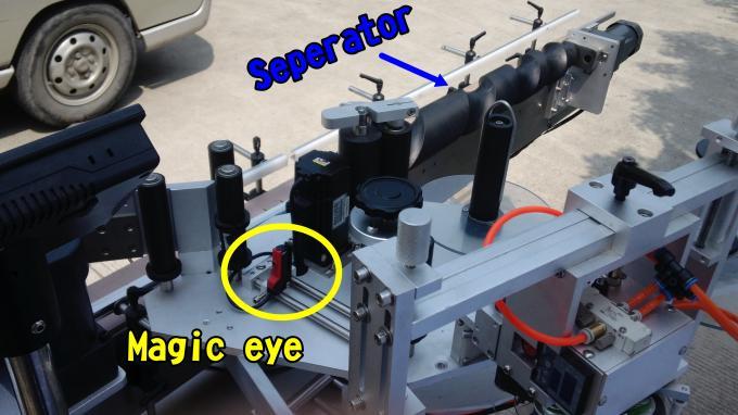 Mașină aplicatoare de etichete pentru oje adezive pentru sticle rotunde de 220V 1.5HP 50 / 60HZ