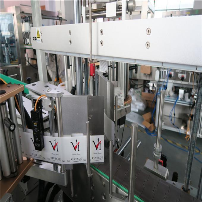 Față / spate pe aplicatorul de etichete pentru sticle non-rotunde sau plate, echipamente de etichetare a sticlei