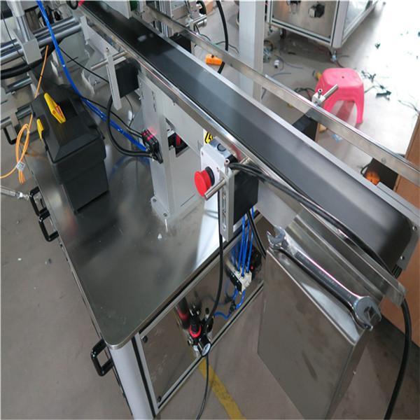 Mașină de etichetare a sticlei pătrate, mașină de etichetare a autocolantului pentru sticlă dublă