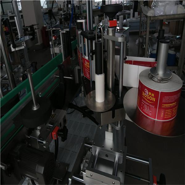 Mașină de etichetare automată cu două sticle, etichetă adezivă, autocolant, șampon vin