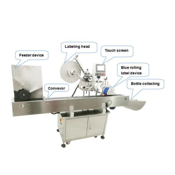 Mașină completă automată de aplicare a etichetei sticlei cu certificat CE