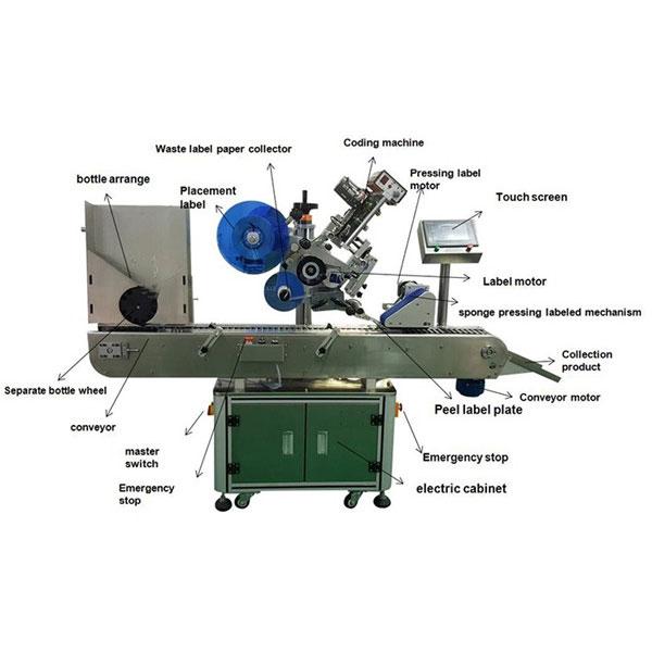 Mașină de etichetare a autocolantelor pentru flacoane farmaceutice Diametru sticle de 10-30 mm