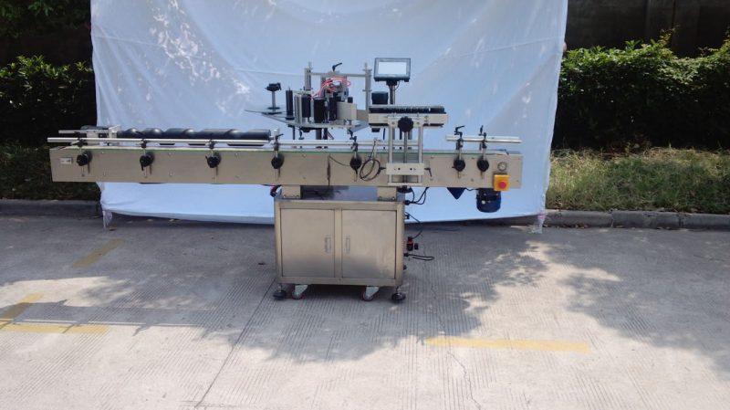 China Mașină automată de etichetare a sticlei rotunde pentru lipici non-uscat, cutie din lemn / mașină de etichetare pentru ambalare export pentru furnizorul CE