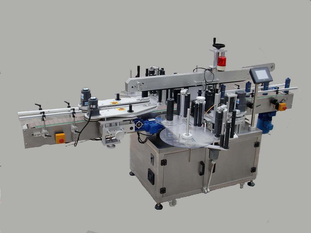 Mașină automată de etichetare cu autocolant lateral dublu cu dispozitiv de paginare și mașină de codificare
