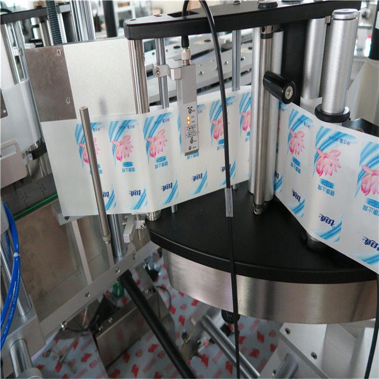 Mașină automată de etichetare a autocolantului cu sticlă rotundă hexagonală, simplă / dublă