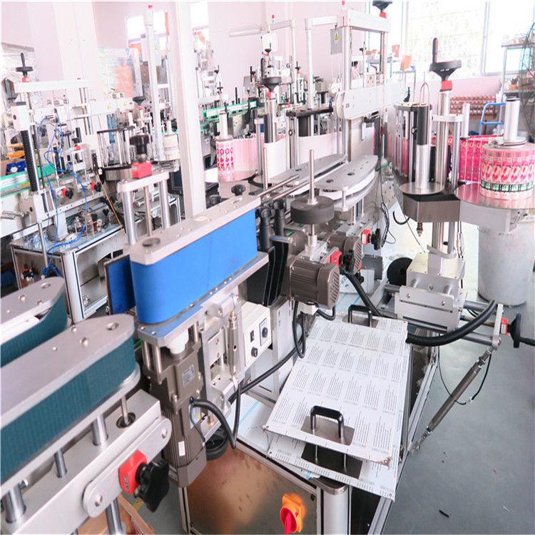 Mașină de etichetare cu sticlă dublă laterală pentru diverse borcane plate pentru sticle