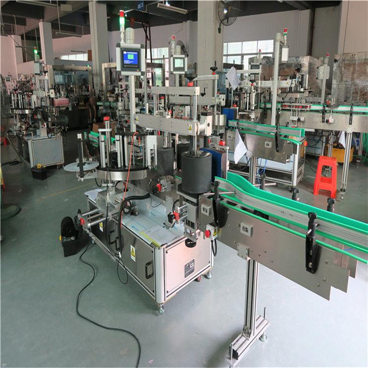 Mașină rotundă de etichetare a sticlelor pentru animale de companie, mașină aplicatoare automate de etichete