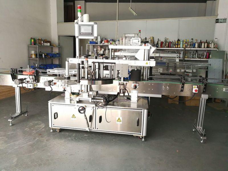 China Mașină rotundă de etichetare a sticlei / aplicator complet automat de etichetă de suprafață plană furnizor