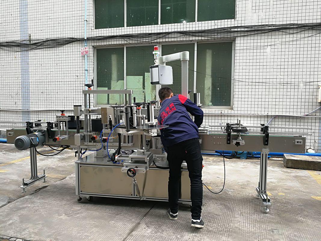 Mașină de etichetare a sticlei de apă complet automată pentru sticla de sticlă / PET