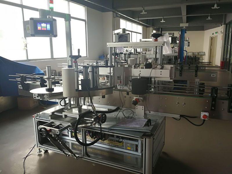 China Mașină de etichetare a sticlei plate, mașină automată de aplicare a etichetei PLC și ecran tactil furnizor
