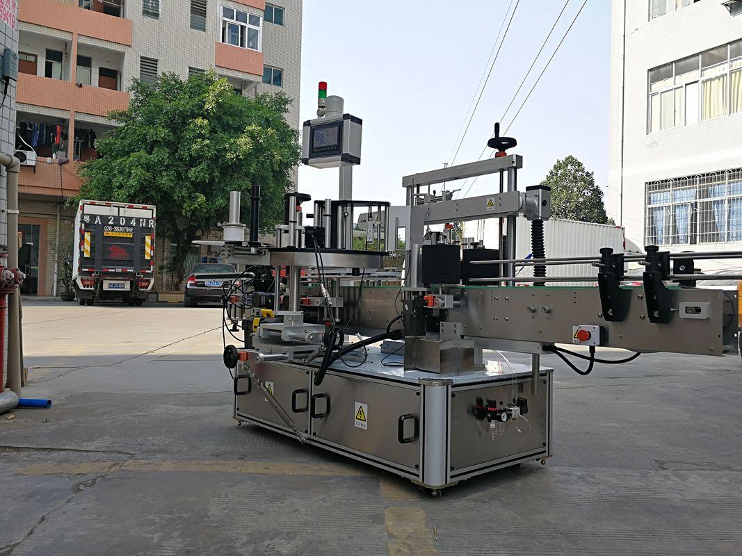 Mașină de aplicat etichetă automată cu trei laturi pentru sticlă pătrată